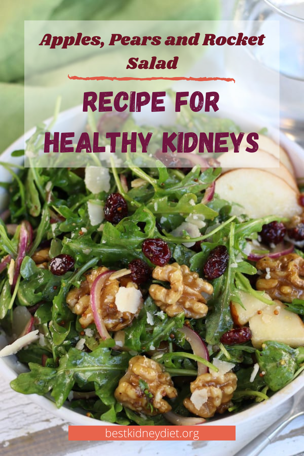 Apples, Pears and Rocket Salad
