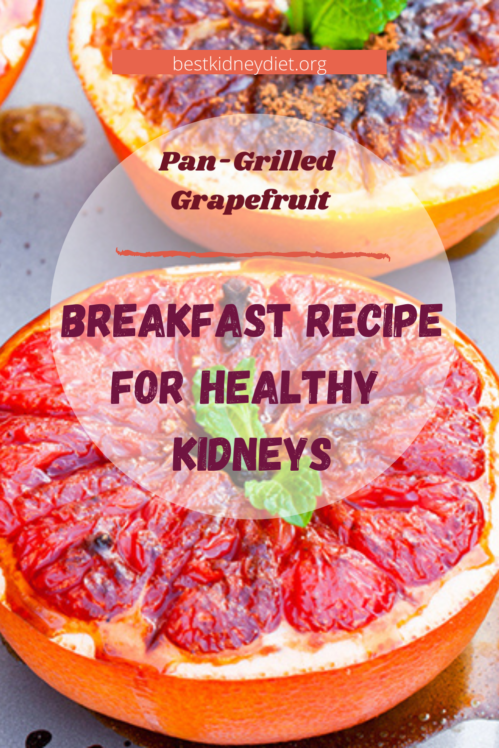 Pan-Grilled Grapefruit and Boiled Eggs